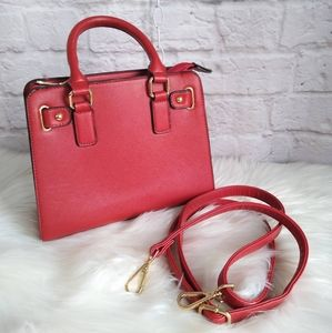 Essential Red Convertible Satchel Purse